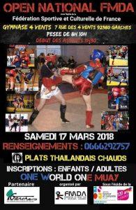 muay thai open national mars 2018
